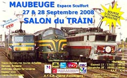 Affiche Salon du Train - Maubeuge - Septembre 2008